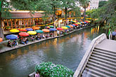 river walk stock photography | Texas, San Antonio, River Walk (Paseo del Rio), image id 1-702-3