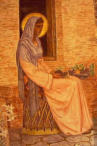 image 1-720-50 Texas, Goliad, Presidio la Bahia, Our Lady of Loreto Chapel, Mural by Antonio Garcia, 1946