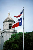 us flag stock photography | Texas, Goliad, Mission Espiritu Santo de Zuniga, image id 1-721-19
