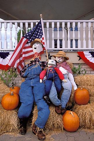 image 1-750-90 Texas, Brenham, Scarecrows