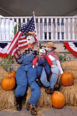 american flag stock photography | Texas, Brenham, Scarecrows, image id 1-750-90
