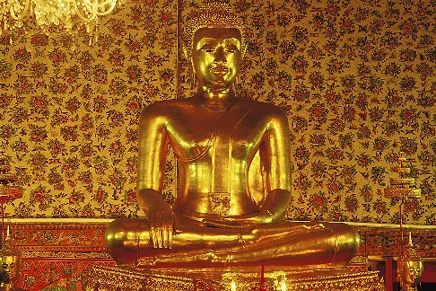 image 0-350-10 Thailand, Bangkok, Buddha, Wat Sam Phraya