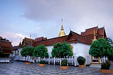 wat stock photography | Thailand, Chiang Mai, Moon over Wat Phra That Doi Suthep, image id 0-360-53