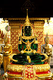 seated stock photography | Thailand, Chiang Mai, Jade Buddha, Wat Phra That Doi Suthep, image id 0-361-32