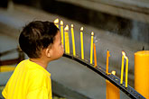 juvenile stock photography | Thailand, Chiang Mai, Candles, Doi Suthep, image id 0-361-48