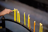 buddhism stock photography | Thailand, Chiang Mai, Candles, Doi Suthep, image id 0-361-51