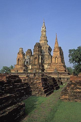 image 0-380-55 Thailand, Sukhothai, Wat Mahathat