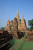 south stock photography | Thailand, Sukhothai, Wat Mahathat, image id 0-380-55