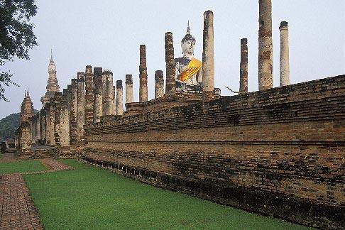 image 0-381-78 Thailand, Sukhothai, Wat Mahathat