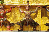 horizontal stock photography | Thailand, Bangkok, Statues of yakshas at Wat Pra Keo, image id 4-194-67