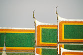 buddhist temple stock photography | Thailand, Bangkok, Temple roof, Wat Pra Keo, image id 4-195-36