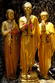 monks praying stock photography | Thailand, Bangkok, Buddha statues, Golden Mount, image id 4-196-21