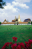 lawn stock photography | Thailand, Bangkok, Front Court with Wat Pra Keo, image id 4-196-80