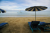 horizontal stock photography | Thailand, Phuket, Umbrellas, Nai Yang Beach, image id 7-525-35