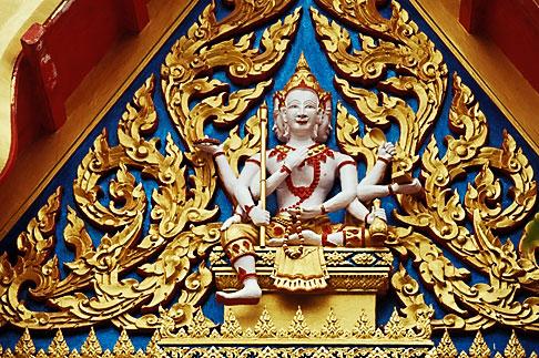 image 7-529-35 Thailand, Phuket, Carving, Wat Cha Long