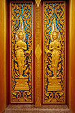 decorated door stock photography | Thailand, Phuket, Door, Wat Cha Long, image id 7-530-19