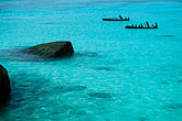canoe stock photography | Thailand, Surin Islands, Sea Gypsies off Ko Surin Tai, image id 7-534-34