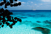 blue stock photography | Thailand, Similan Islands, Sailing ship offshore, image id 7-541-33