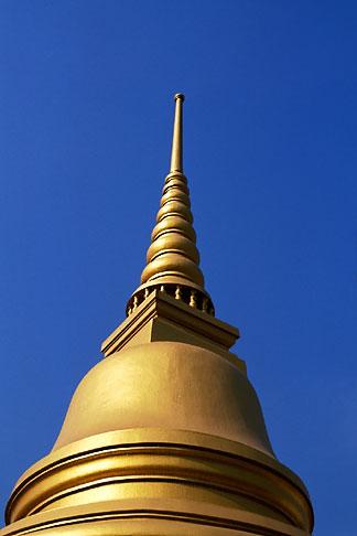 image S3-101-3 Thailand, Bangkok, Gilt pagoda at Wat Pra Keo