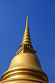 buddhist temple detail stock photography | Thailand, Bangkok, Gilt pagoda at Wat Pra Keo, image id S3-101-3