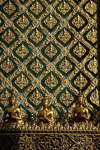 image S3-101-4 Thailand, Bangkok, Temple building detail, Wat Pra Keo