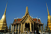 temple roof stock photography | Thailand, Bangkok, The Royal Pantheon, Wat Pra Keo, image id S3-101-6