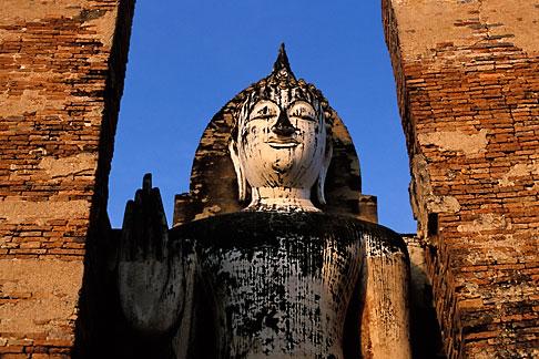 image S3-103-4 Thailand, Sukhothai, Wat Mahathat