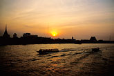boat stock photography | Thailand, Bangkok, Sunset over the Chao Praya, image id S3-105-19