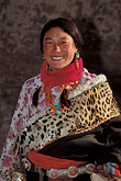 native dress stock photography | Tibet, Tibetan woman, Labrang Monastery, Xiahe, image id 4-125-34