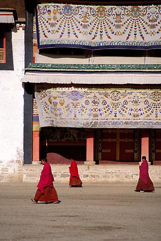 image 4-126-36 Tibet, Monks, Labrang Tibetan Buddhist Monastery, Xiahe