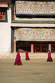 three people only stock photography | Tibet, Monks, Labrang Tibetan Buddhist Monastery, Xiahe, image id 4-126-36