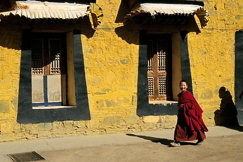 image 4-129-8 Tibet, Tibetan monks, Labrang Monastery, Xiahe