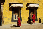hat stock photography | Tibet, Tibetan monks, Labrang Monastery, Xiahe, image id 4-129-9