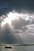 storm clouds stock photography | Tobago, Sun and clouds, Pigeon Point, image id 8-36-9