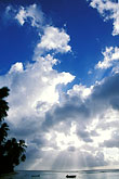 beach stock photography | Tobago, Sun and clouds, image id 8-39-3