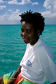 west indies stock photography | Tobago, Woman on catamaran, Nylon Pool, image id 8-40-17