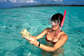 one woman only stock photography | Tobago, Snorkelling at the Nylon Pool, image id 8-40-33