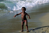 sea stock photography | Tobago, Young girl on beach Castara, image id 8-44-12
