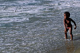 water stock photography | Tobago, Young girl on beach Castara, image id 8-44-14