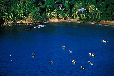 image 8-44-35 Tobago, Fishing boats, Parlatuvier Bay