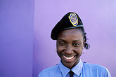 blue stock photography | Trinidad, Port of Spain, Policewoman, image id 8-11-33