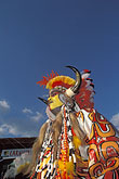 painted face stock photography | Trinidad, Carnival, Native American costume, image id 8-143-8