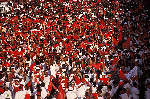 image 8-145-7 Trinidad, Carnival, Dancers passing main grandstand