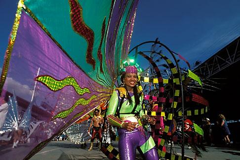 image 8-146-7 Trinidad, Carnival, Costumed dancer