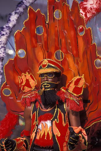 image 8-149-6 Trinidad, Carnival, Costumed dancer