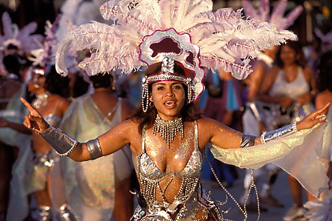 image 8-176-4 Trinidad, Carnival, Costumed dancer