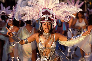 8-176-4 stock photo of Trinidad, Carnival, Costumed dancer