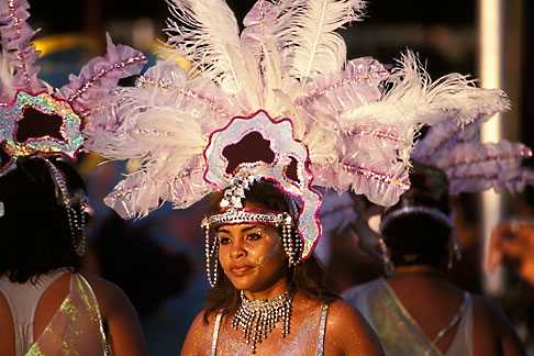 image 8-176-5 Trinidad, Carnival, Costumed dancer