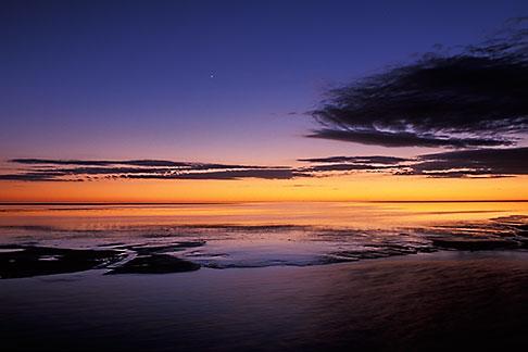 image 3-1100-17 Tunisia, Chott el Jerid at sunset