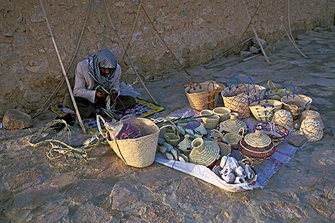 image 3-1100-58 Tunisia, Street vendor with baskets